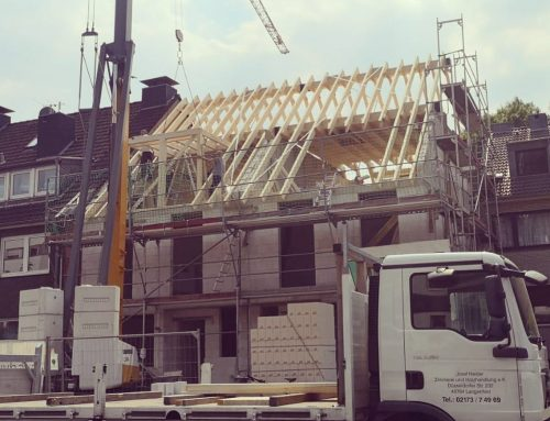 Fertigstellung Dachstuhl – Baustelle Düsseldorf